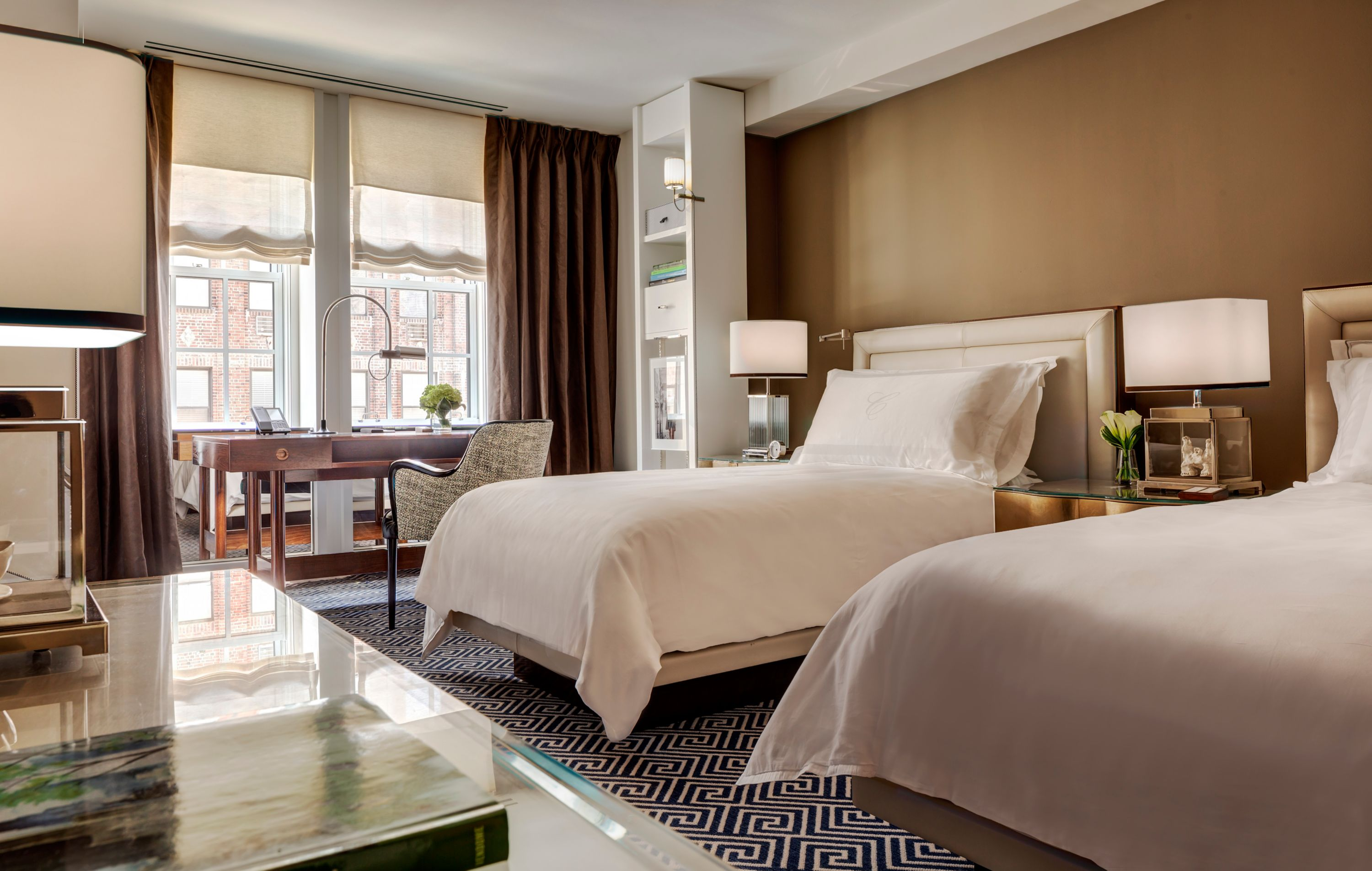 deluxe twins room  luxury accommodations new york  rosewood